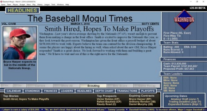 Baseball Mogul 2018 Torrent Download