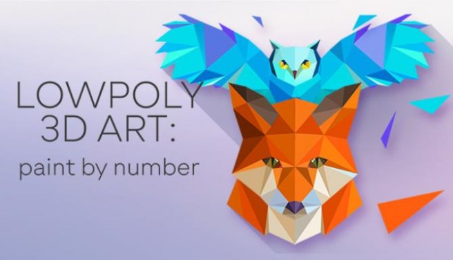 LowPoly 3D Art Paint by Number Free Download