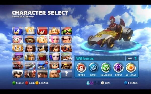 Sonic & All-Stars Racing Transformed PC Crack